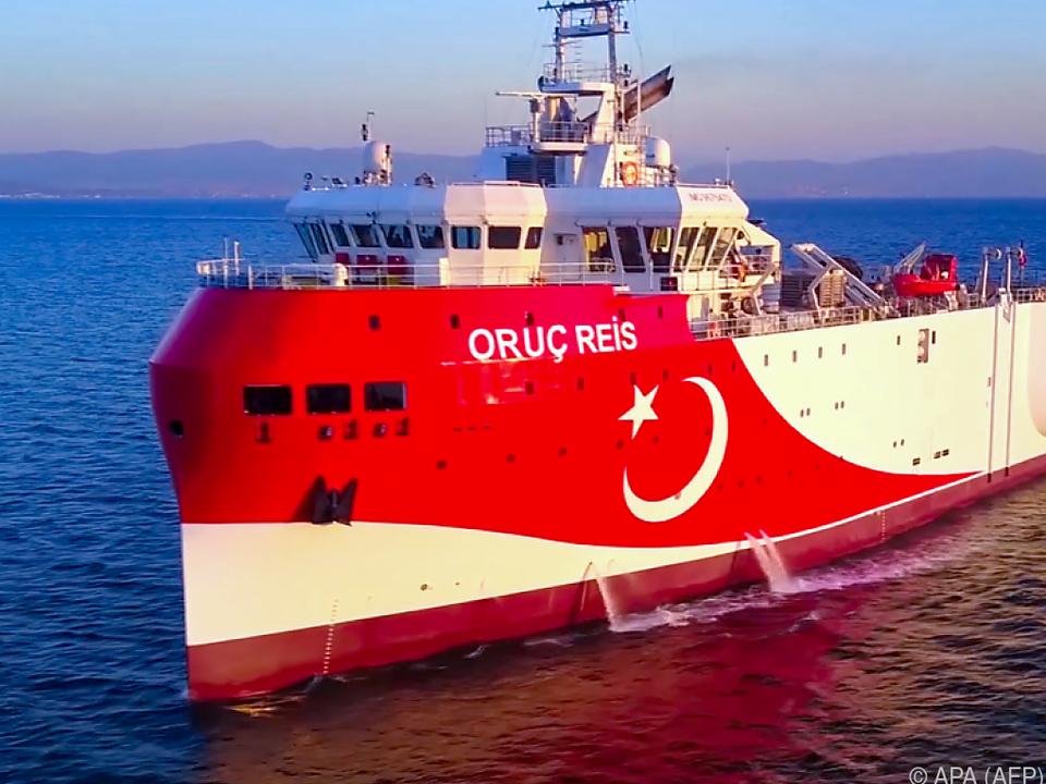 Die Oruc Reis soll in griechischem Hoheitsgebiet unterwegs sein