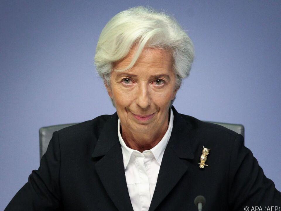 Die Präsidentin der EZB schaut mit gemischten Gefühlen in die Zukunft