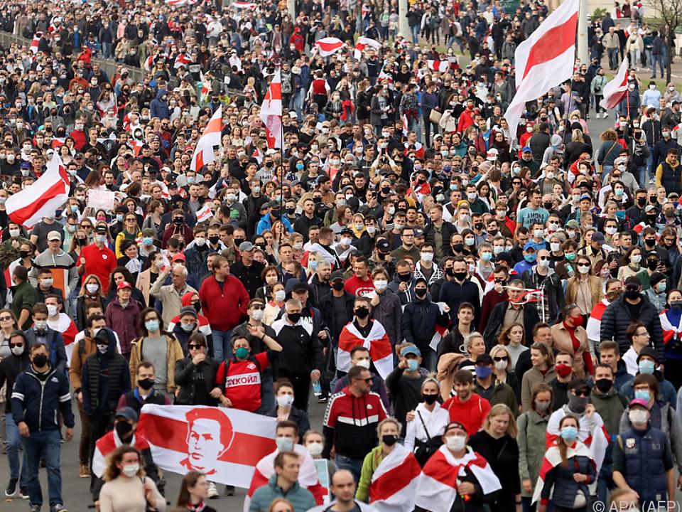 Die Situation in Weißrussland bleibt weiterhin angespannt