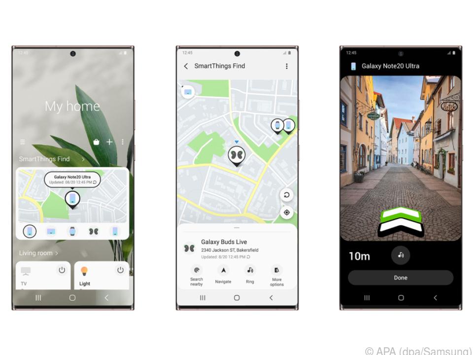 Die Smart-Things-Find-App bietet Samsung-Galaxy-Nutzern viel