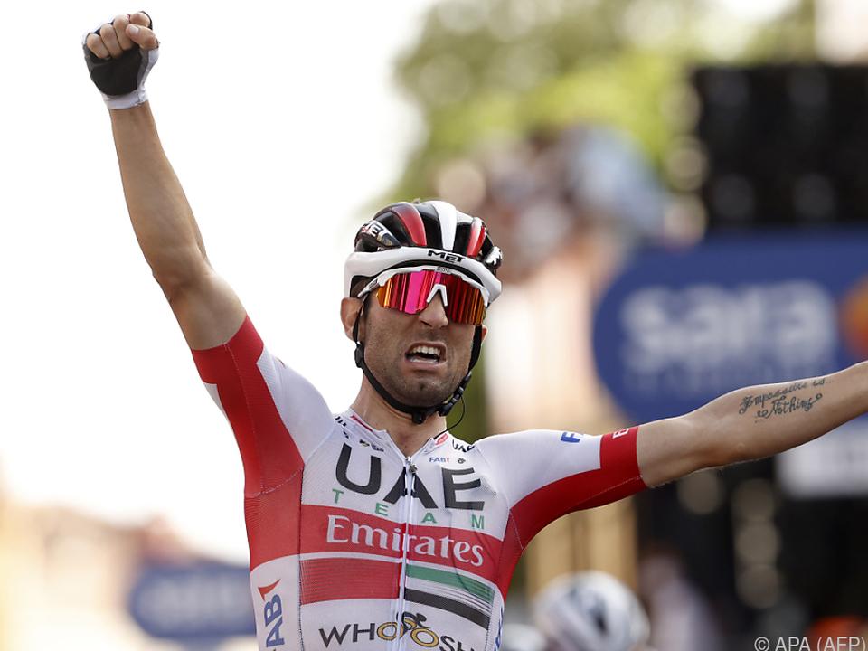 Diego Ulissi jubelt über seinen Etappensieg beim Giro