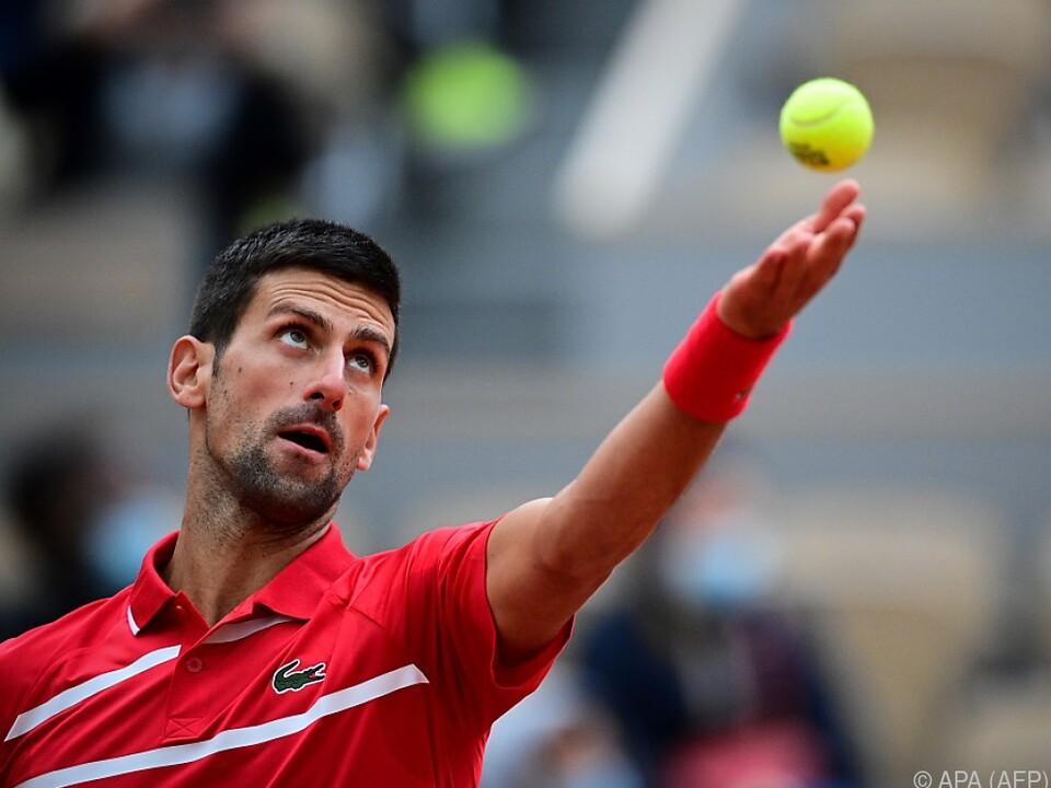 Djokovic setzte sich gegen Ricardas Berankis durch