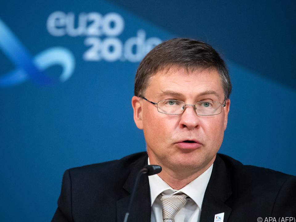 Dombrovskis wies die US-Forderung zurück