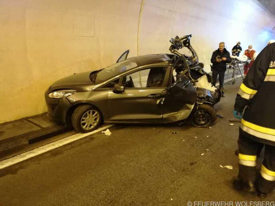 Drei von vier Insassen dieses Fahrzeuges kamen ums Leben