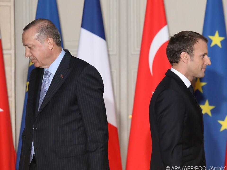 Erdogan hatte Macron scharf angegriffen
