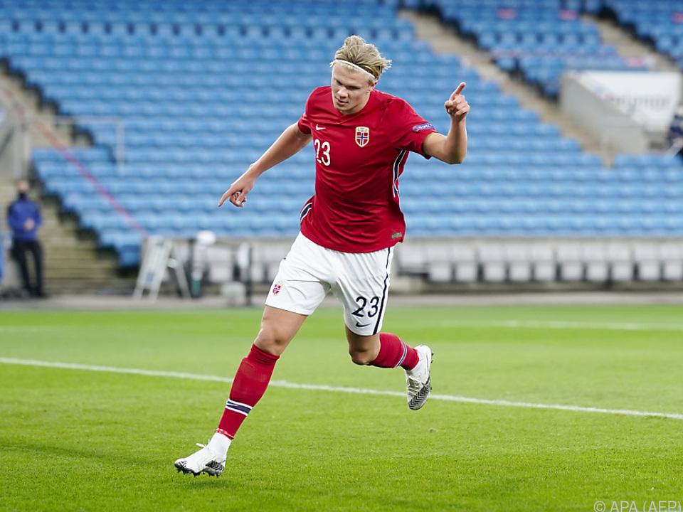 Erling Haaland glänzt auch im norwegischen Team