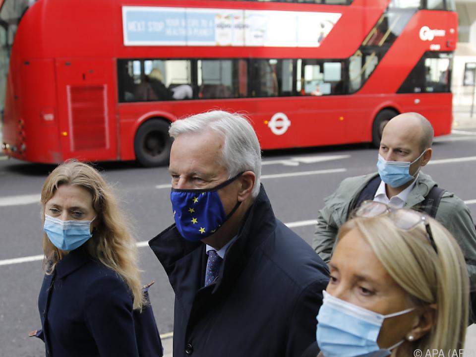 EU-Verhandlungsführer Michel Barnier in London
