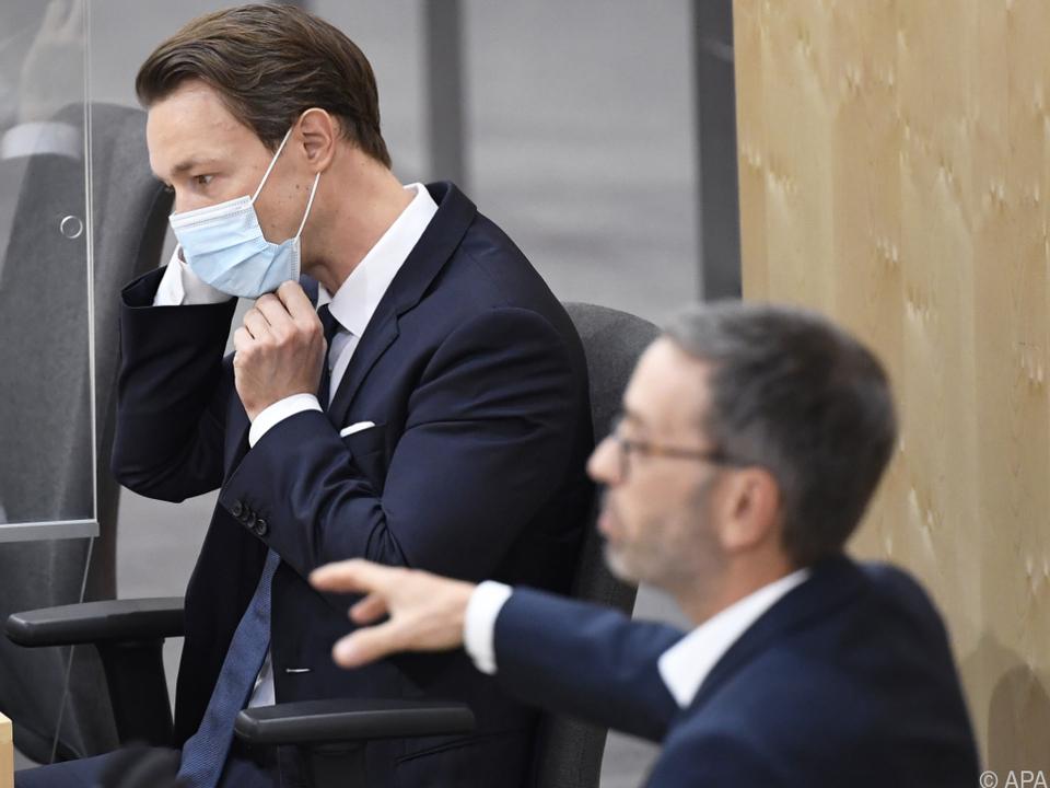 Finanzminister Blümel zeigte sich von Kickls Angriffen nicht beeindruckt