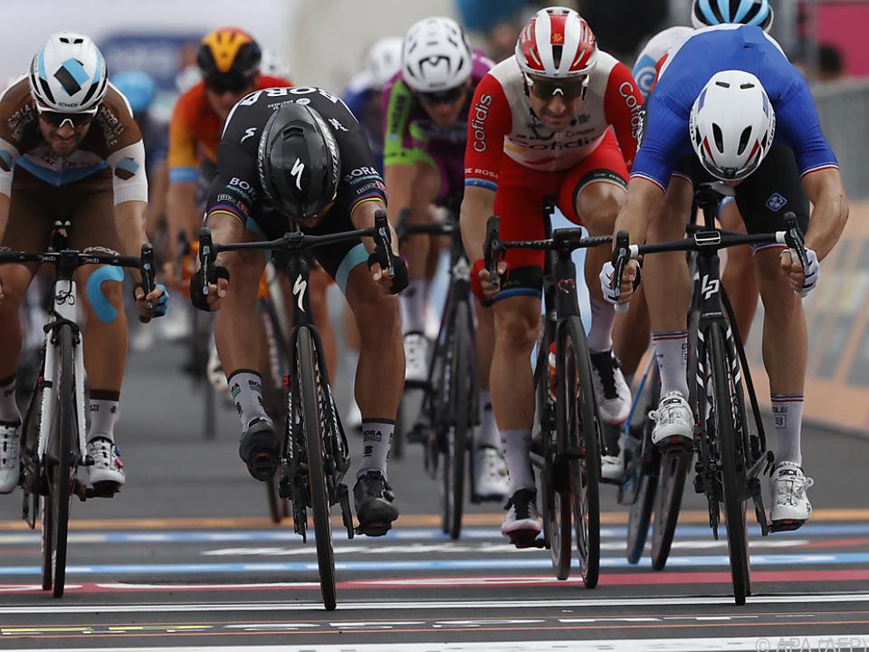Fotofinish auf der 4. Giro-Etappe
