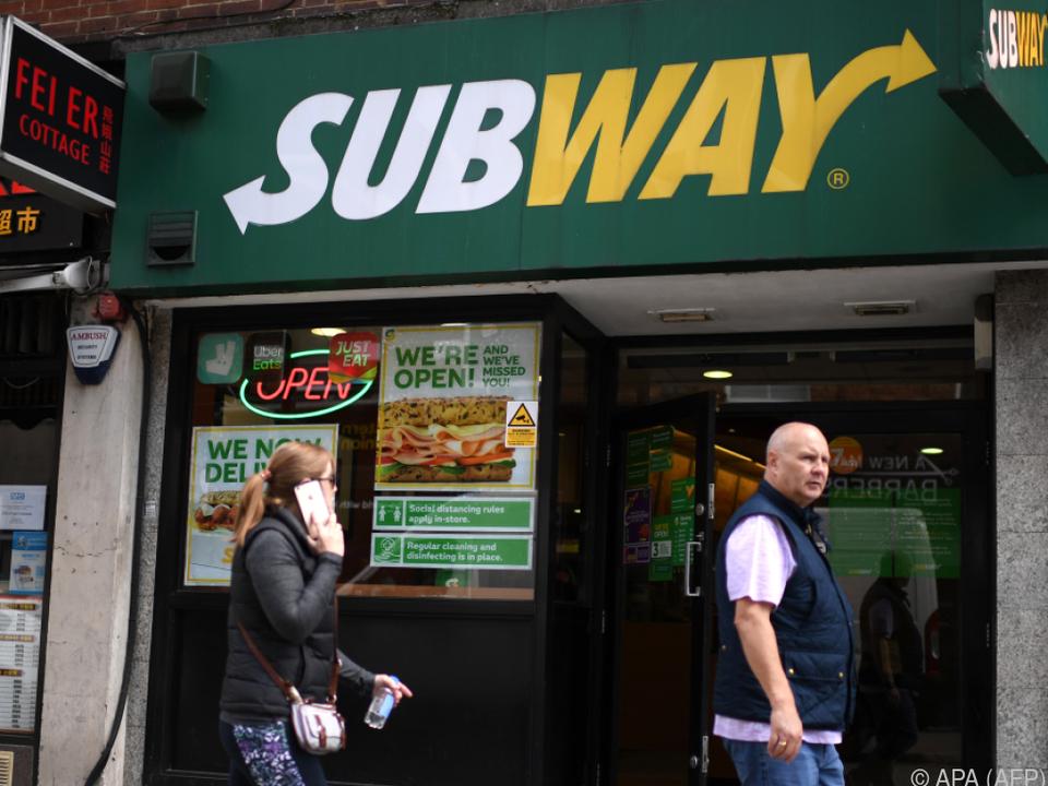 Geschäftseingang der Fastfood-Kette Subway