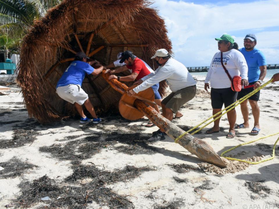 Halbinsel Yucatan bereitet sich auf den Wirbelsturm vor