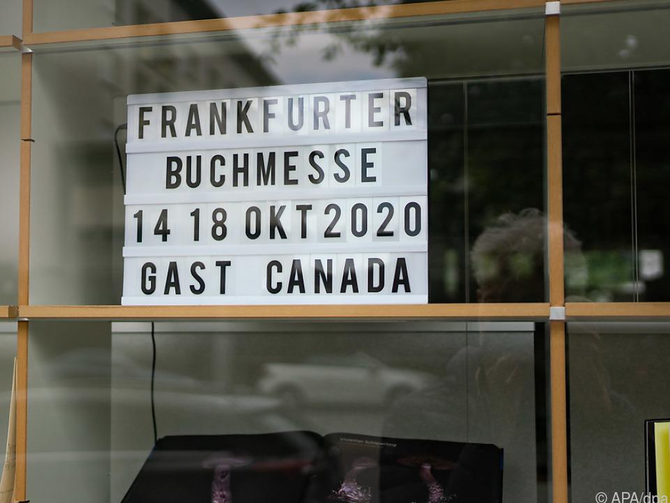 Hinweis auf die Buchmesse in Frankfurt