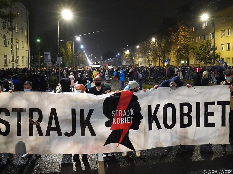 In Warschau und weiteren Städten wurde demonstriert