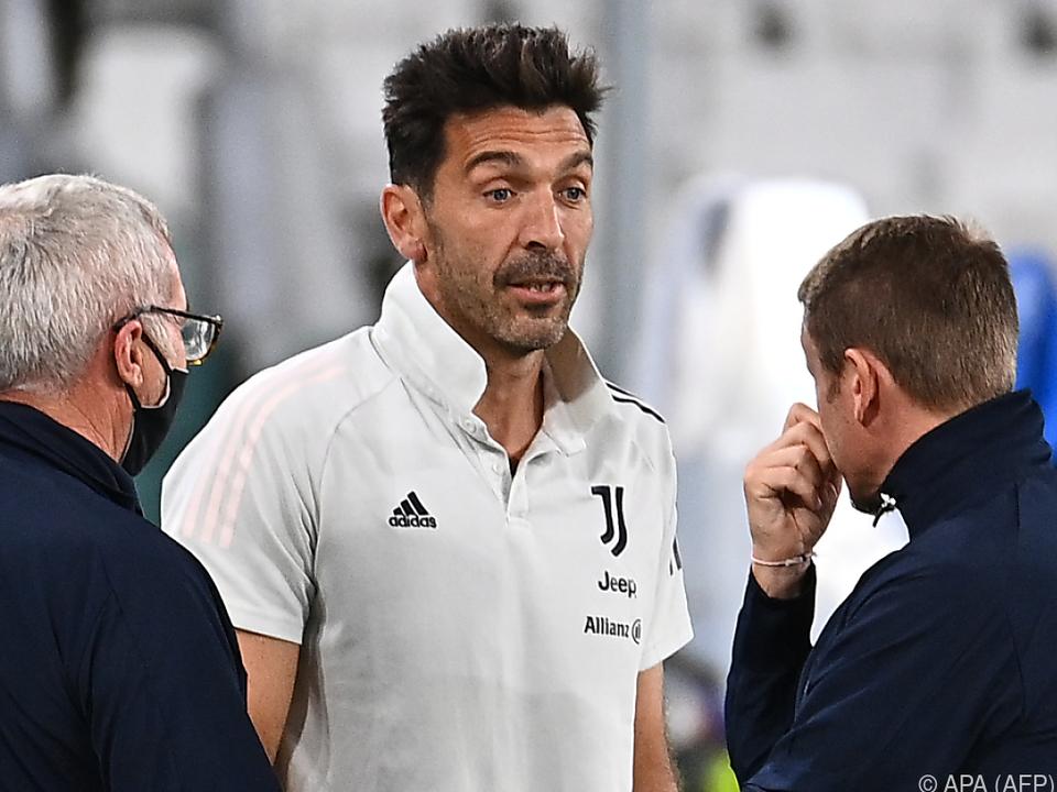 Juve-Goalie Buffon brauchte an diesem Abend nicht zu arbeiten