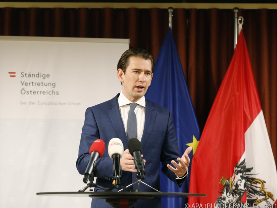 Kanzler Kurz beim EU-Sondergipfel