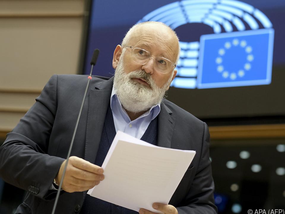 Kommissionsvize Timmermans warb für eine Verschärfung