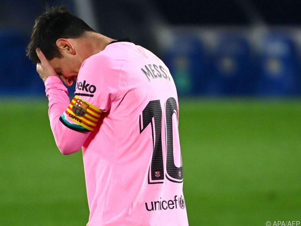 Lionel Messi sah schon glücklicher aus