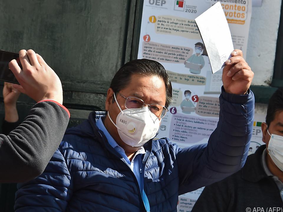 Luis Arce wird von Boliviens Ex-Präsidenten Evo Morales unterstützt