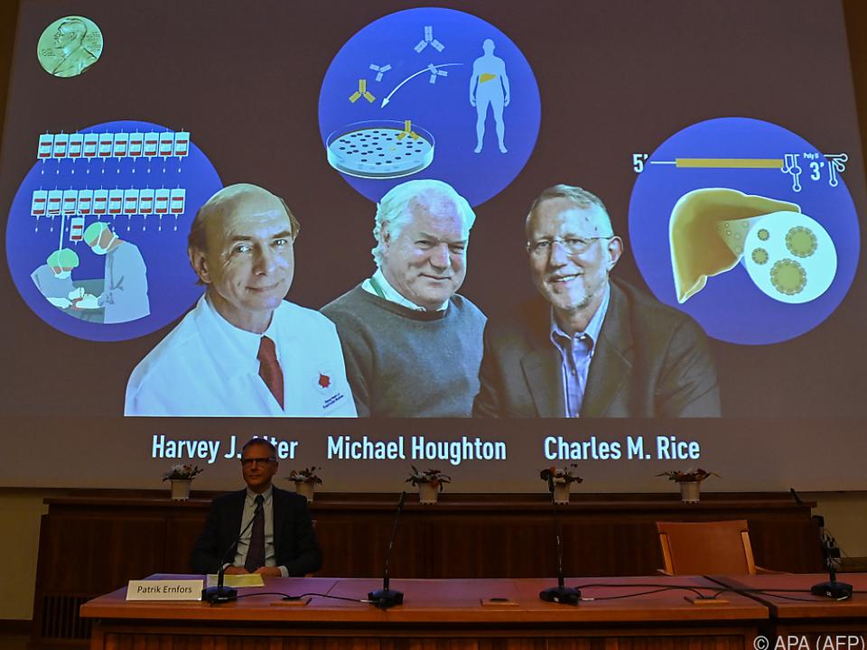 Medizin-Nobelpreis an drei Forscher
