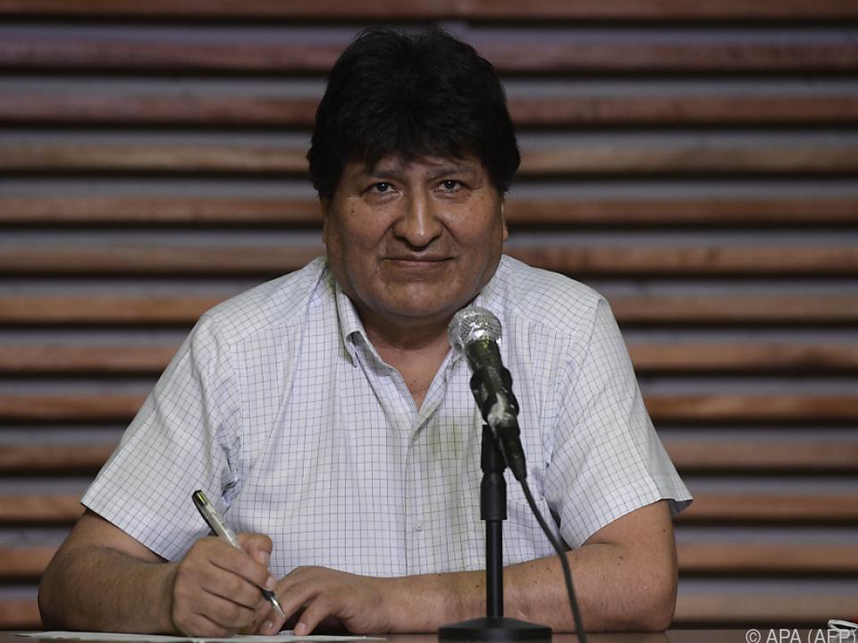 Morales war der erste indigene Präsident des Landes