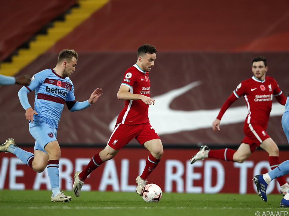 Mühevoller 2:1-Sieg für Liverpool gegen West Ham United
