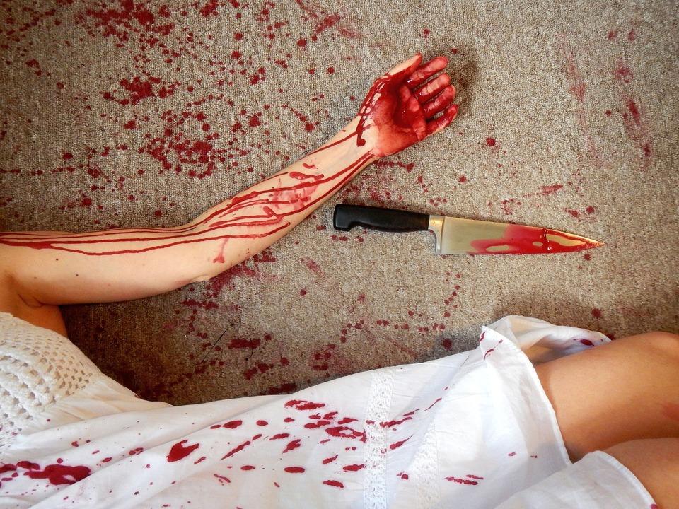 Messer Frau
