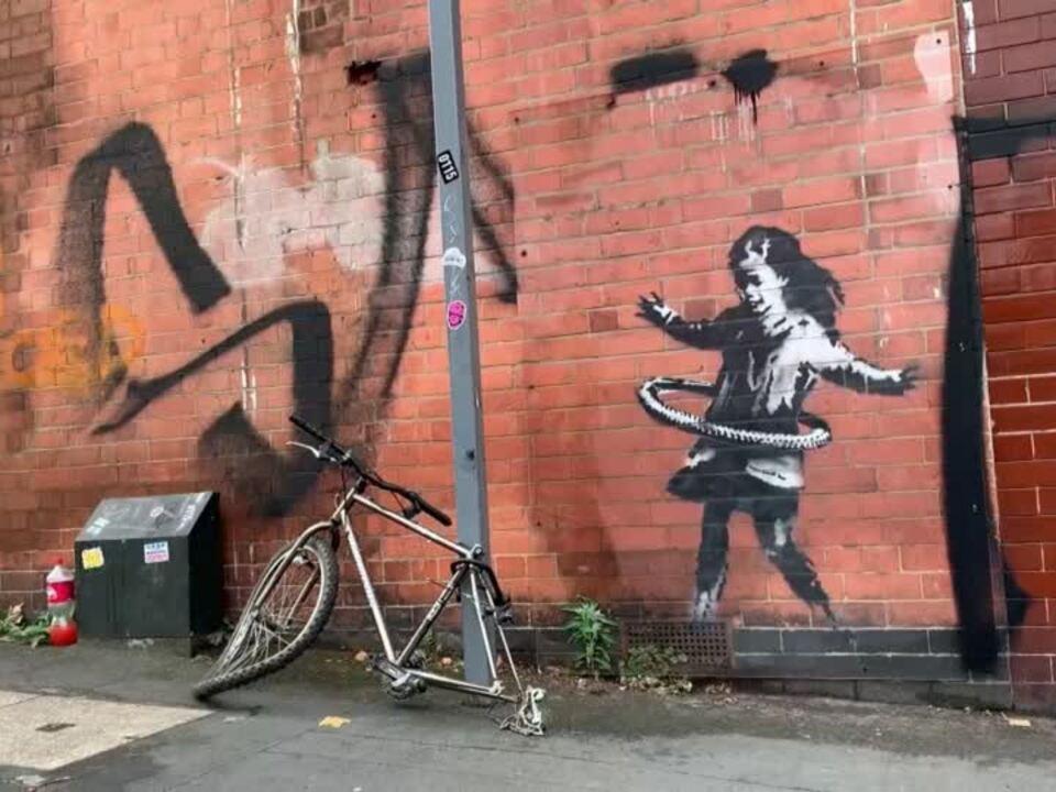 Ersatzfahrrad für Kunst von Banksy - Original ist verschwunden