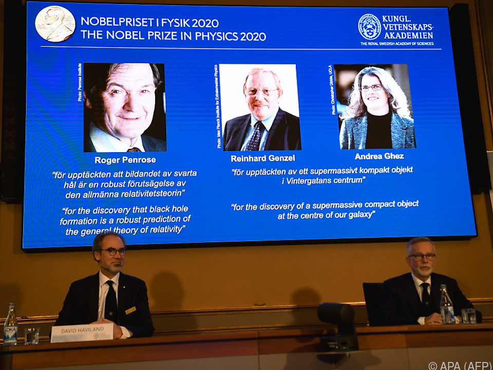 Nobelpreis an Roger Penrose, Reinhard Genzel und Andrea Ghez