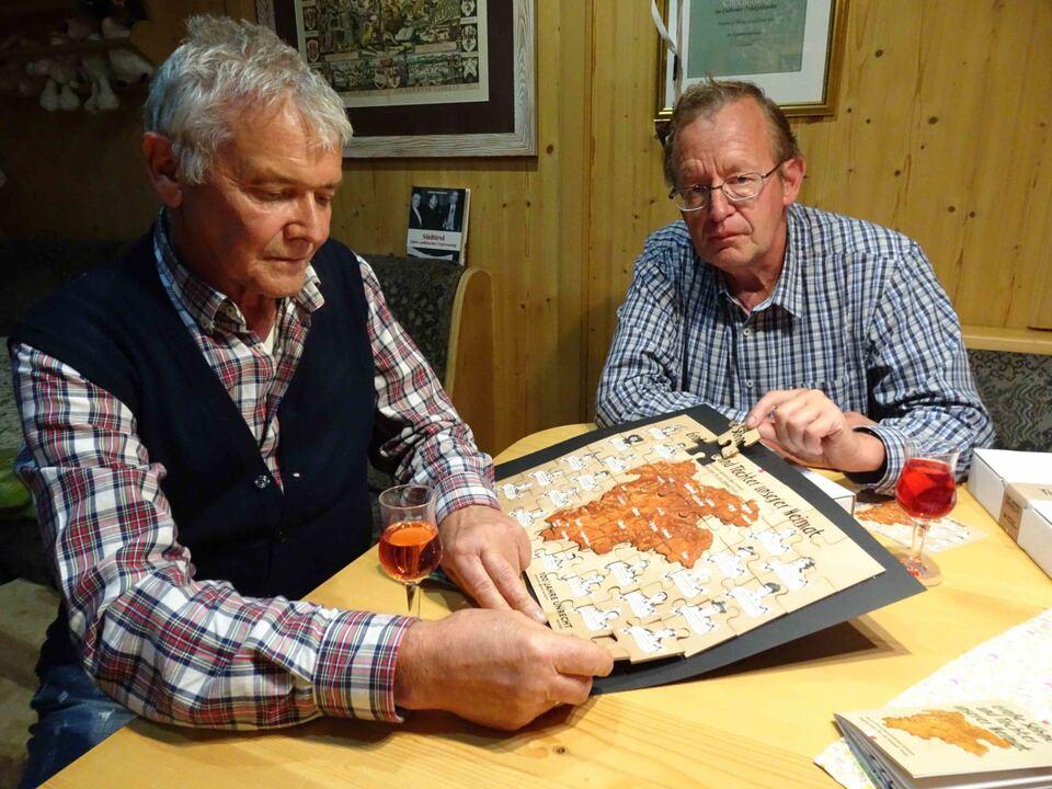 Obmann Roland Lang & Stellvertreter Meinrad Berger  SHB Puzzle