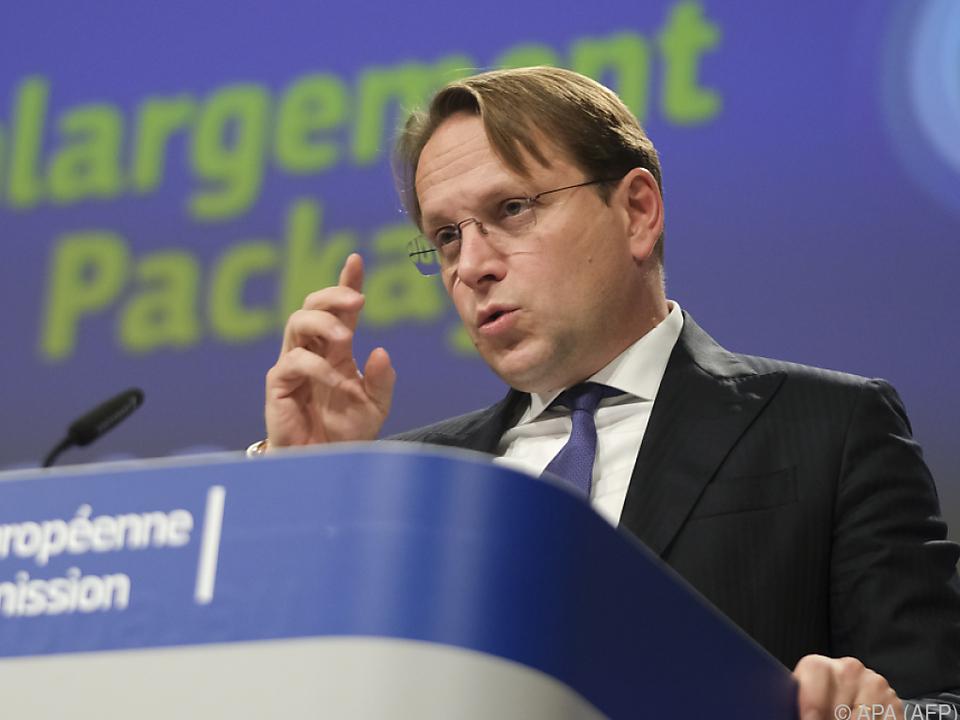 Oliver Varhelyi präsentierte das Investitionspaket für die Erweiterung
