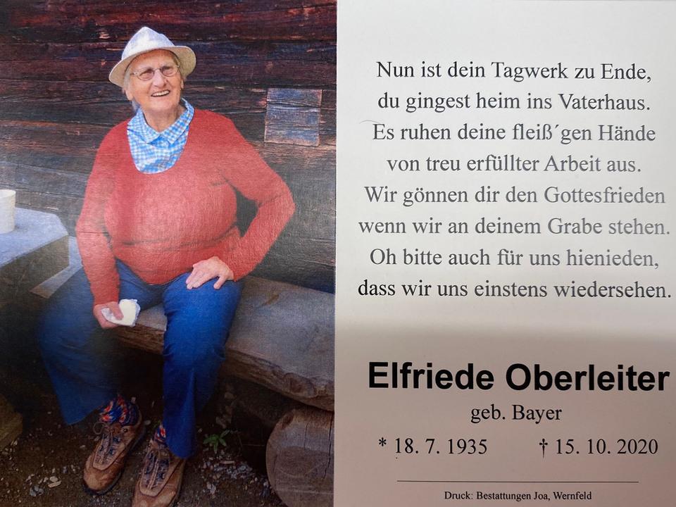 Parte Elfriede Oberleiter