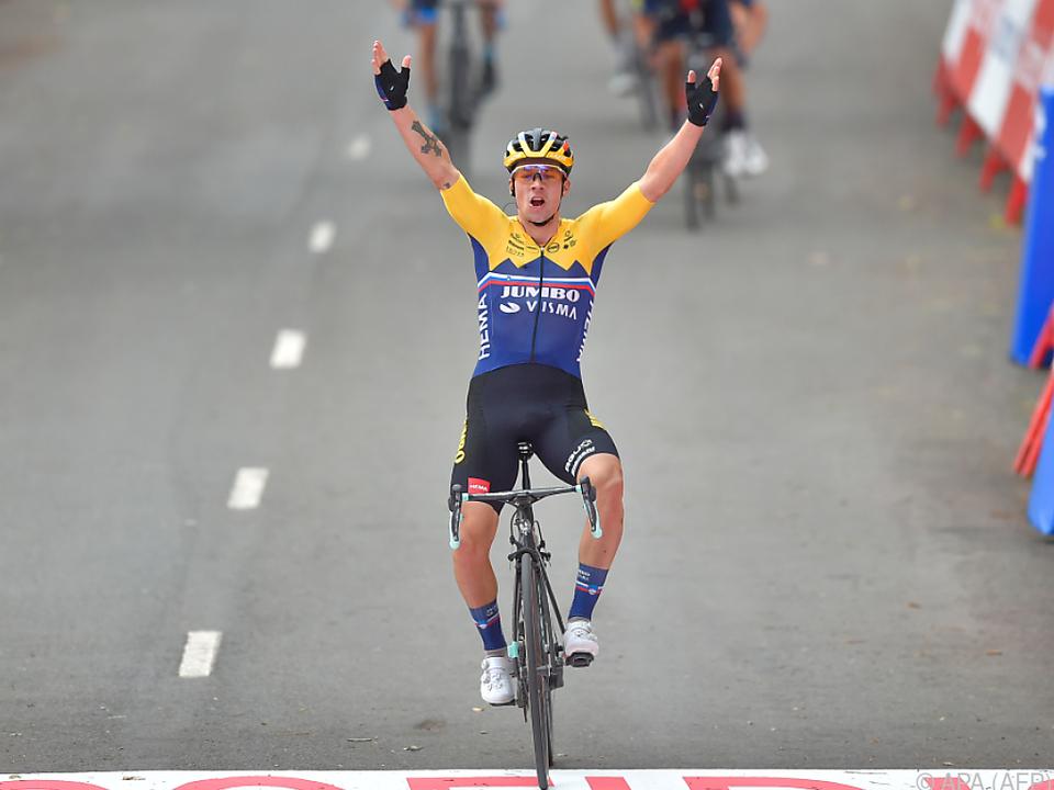 Primoz Roglic sicherte sich den ersten Etappensieg