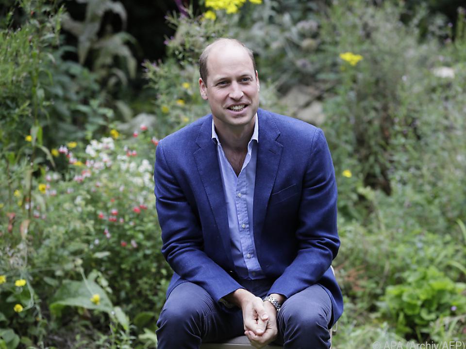 Prinz William will Lösungen für Umweltprobleme finden