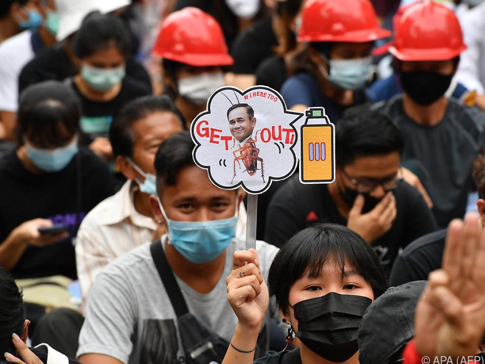 Proteste gegen die Regierung in Thailand