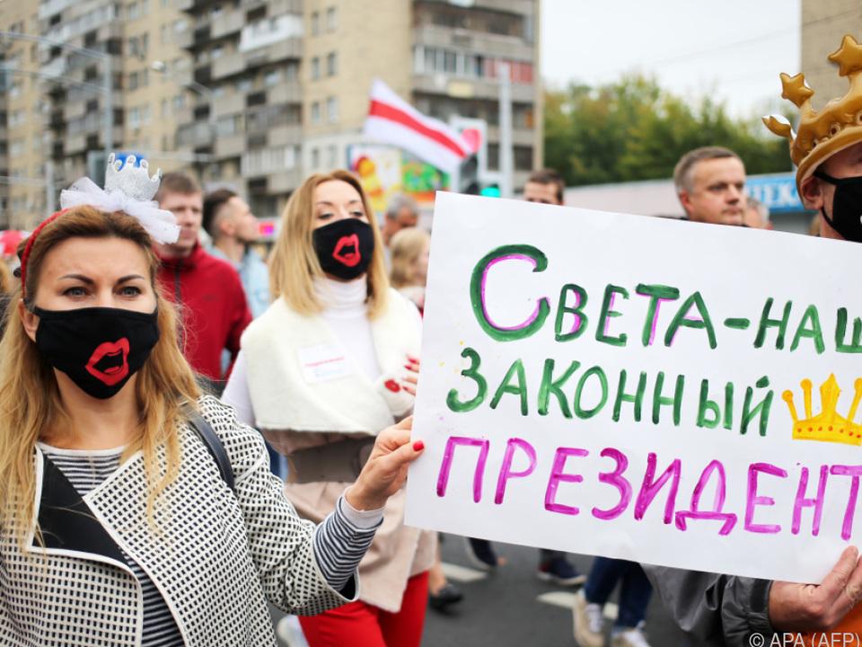 Proteste in Weißrussland gehen weiter