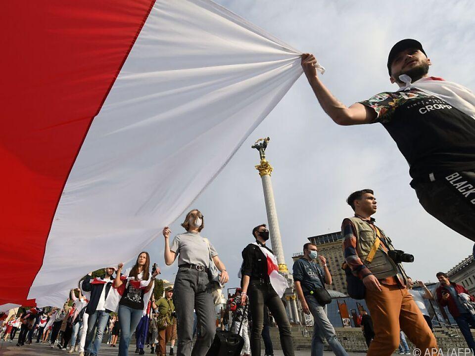 Proteste in Weißrussland reißen nicht ab