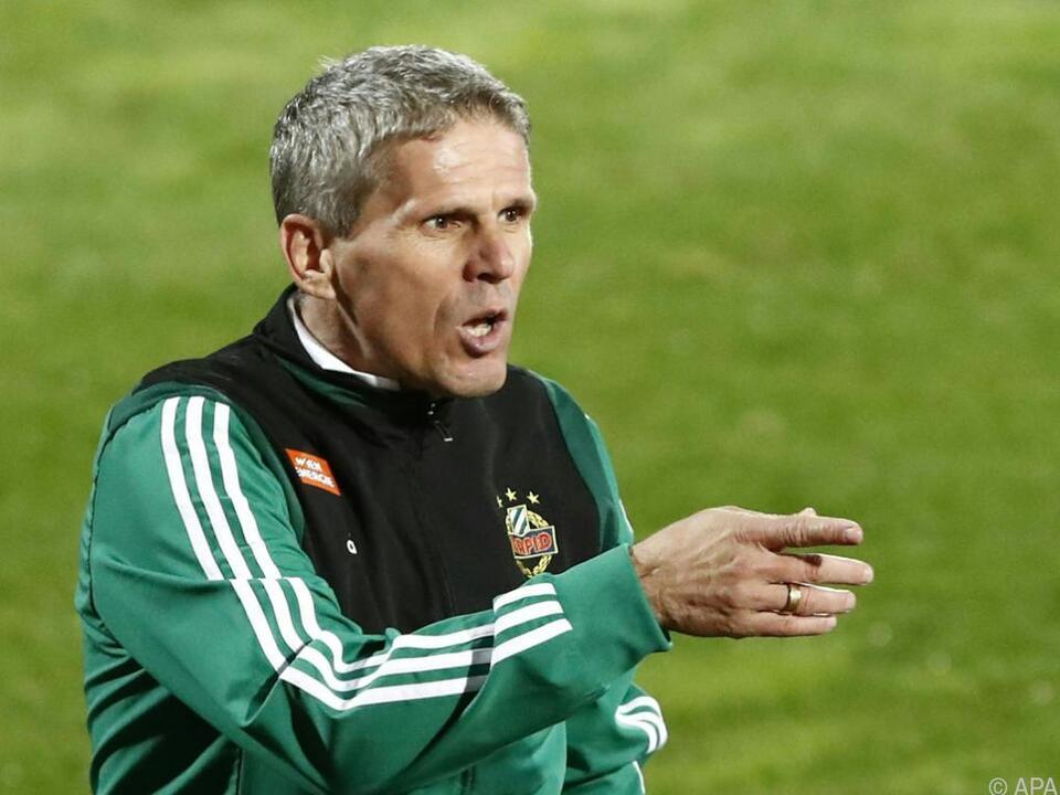 Rapid-Coach Kühbauer möchte Zählbares mitnehmen