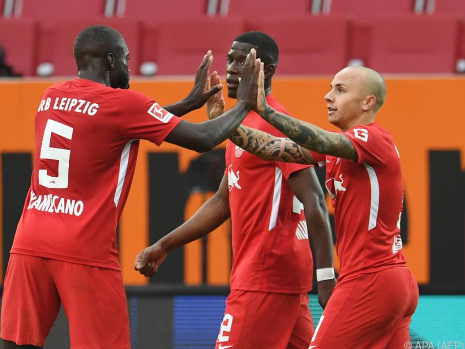 RB Leipzig mit Sieg in Augsburg weiter auf Kurs