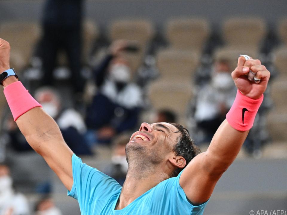 Riesenfreude bei Nadal nach seinem Triumph über Djokovic
