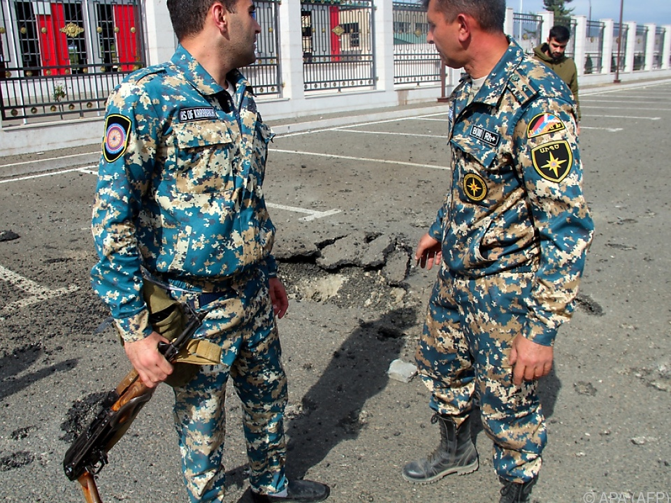 Schüsse und Explosionen in Stepanakert