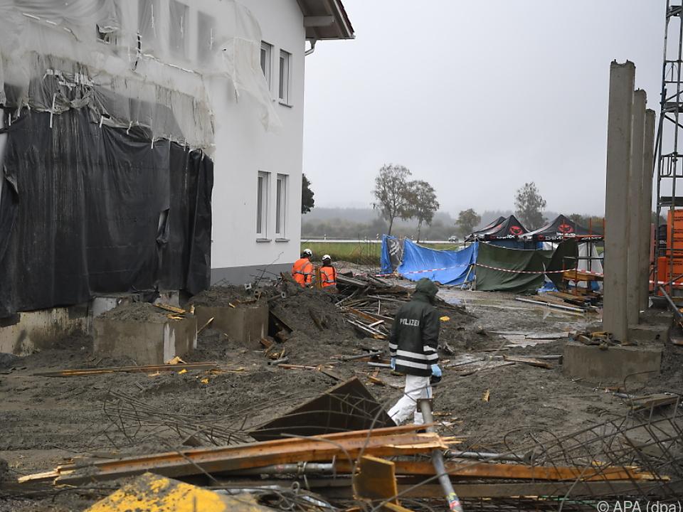 Schweres Baustellenunglück in Bayern