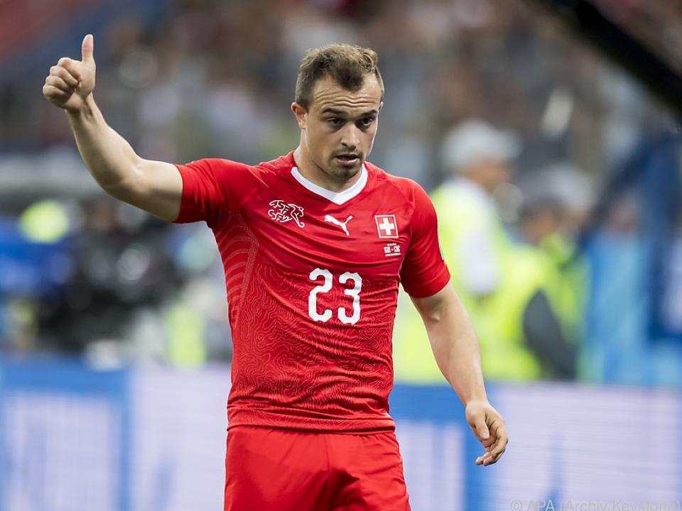 Shaqiri beim Camp der Schweizer Nationalmannschaft