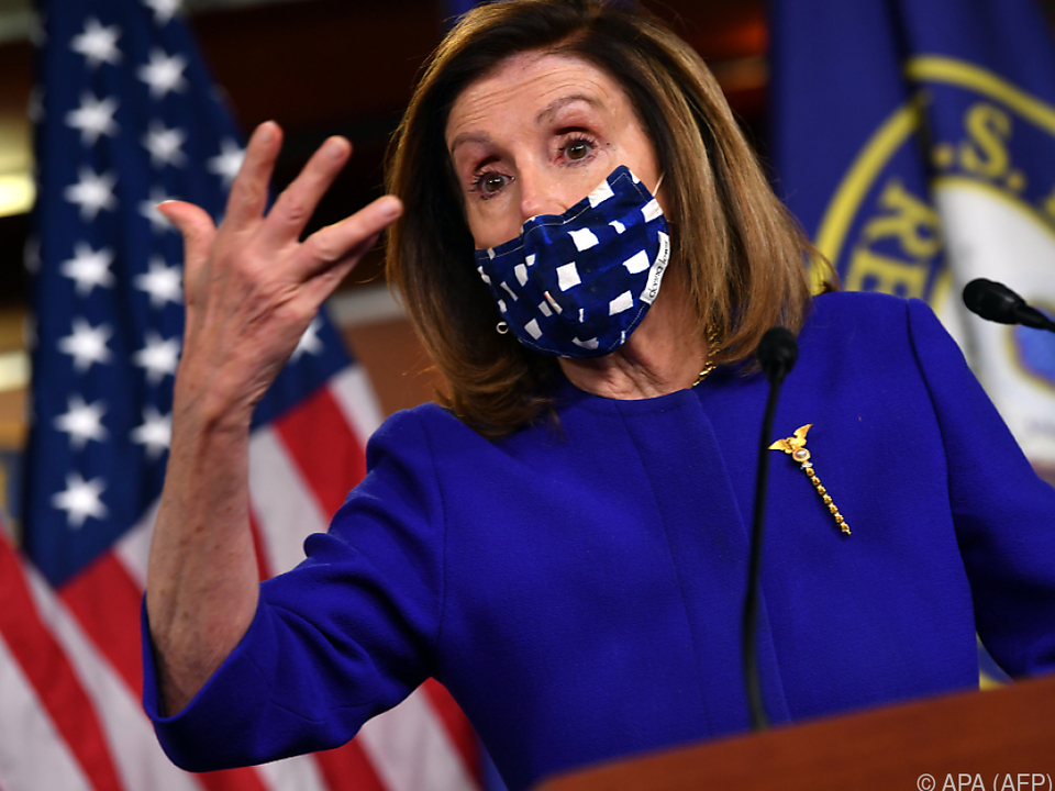 Sprecherin des US-Repräsentantenhauses, Nancy Pelosi, übt Druck aus