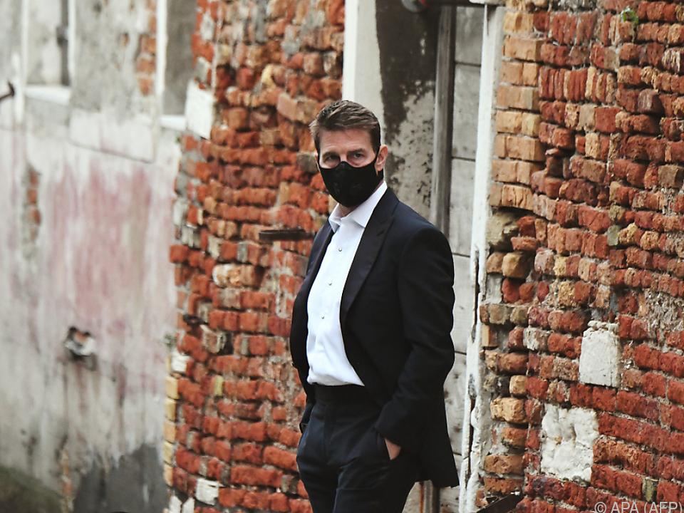 Tom Cruise während der Dreharbeiten in Venedig