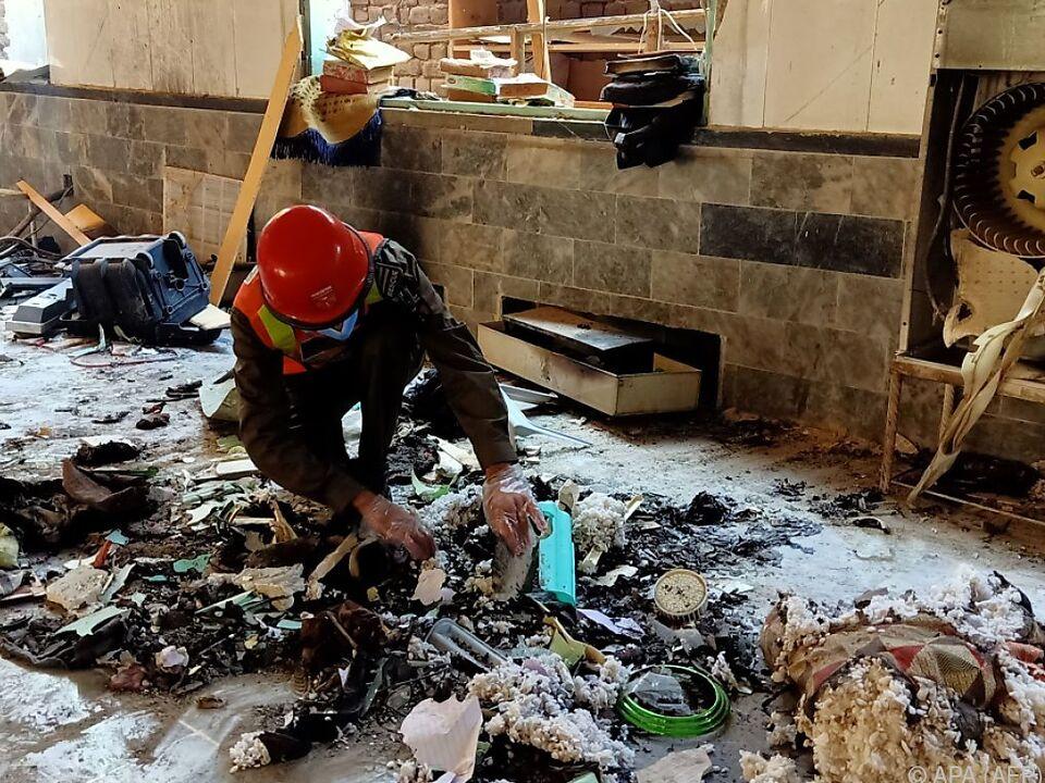 Verheerende Szenen nach der Explosion