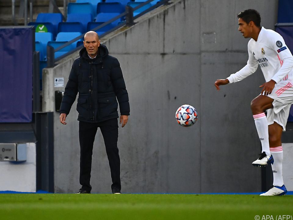 Verlieren verboten heißt es für Zidane