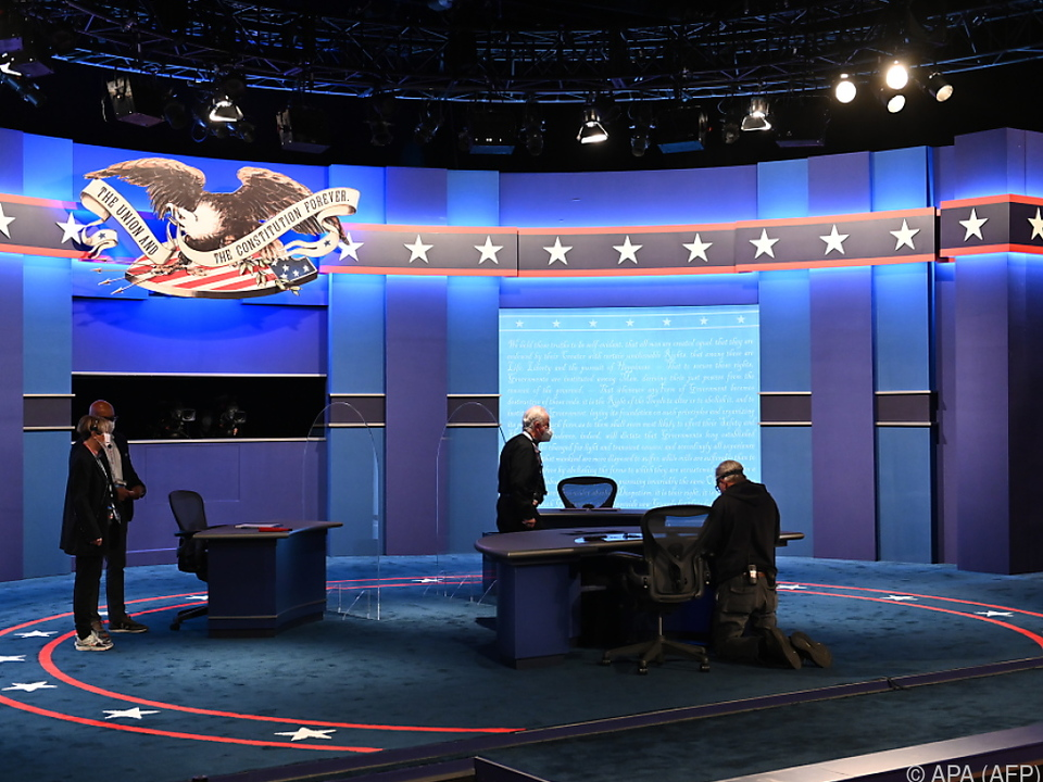 Vorbereitungen auf das TV-Duell in Salt Lake City