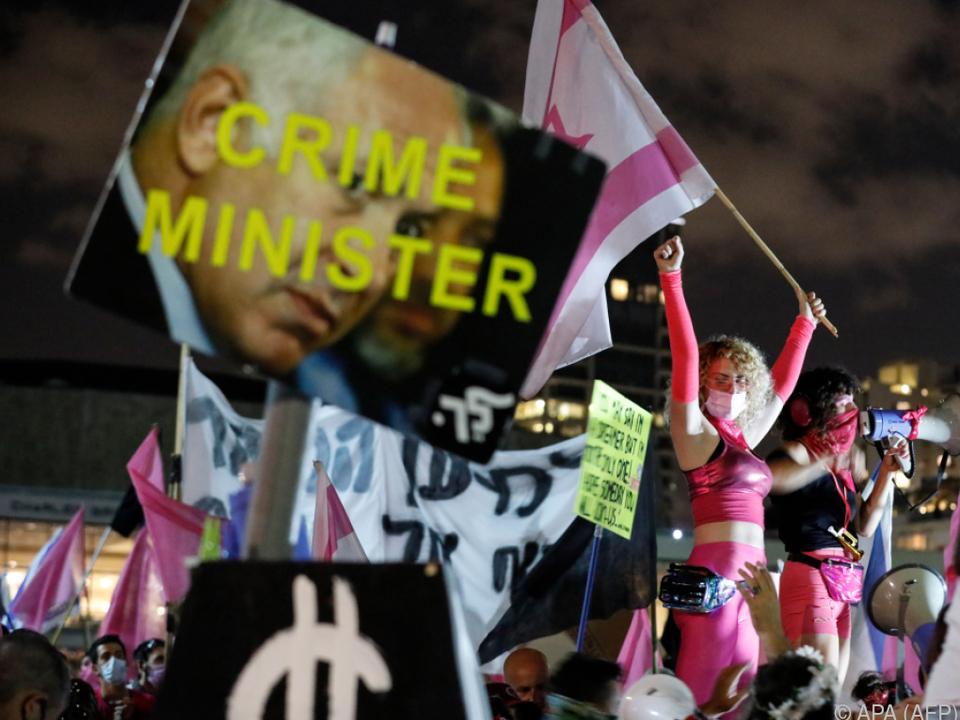 Wieder Proteste gegen den israelischen Premier in Tel Aviv