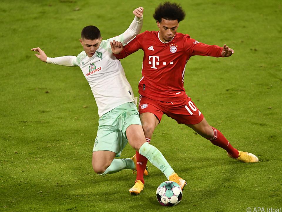 1:1 zwischen Bayern München und Werder Bremen