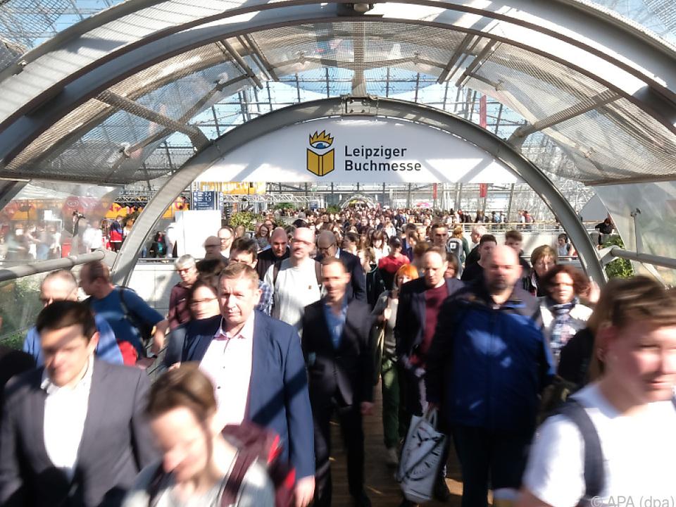 Besucher der Leipziger Buchmesse 2019